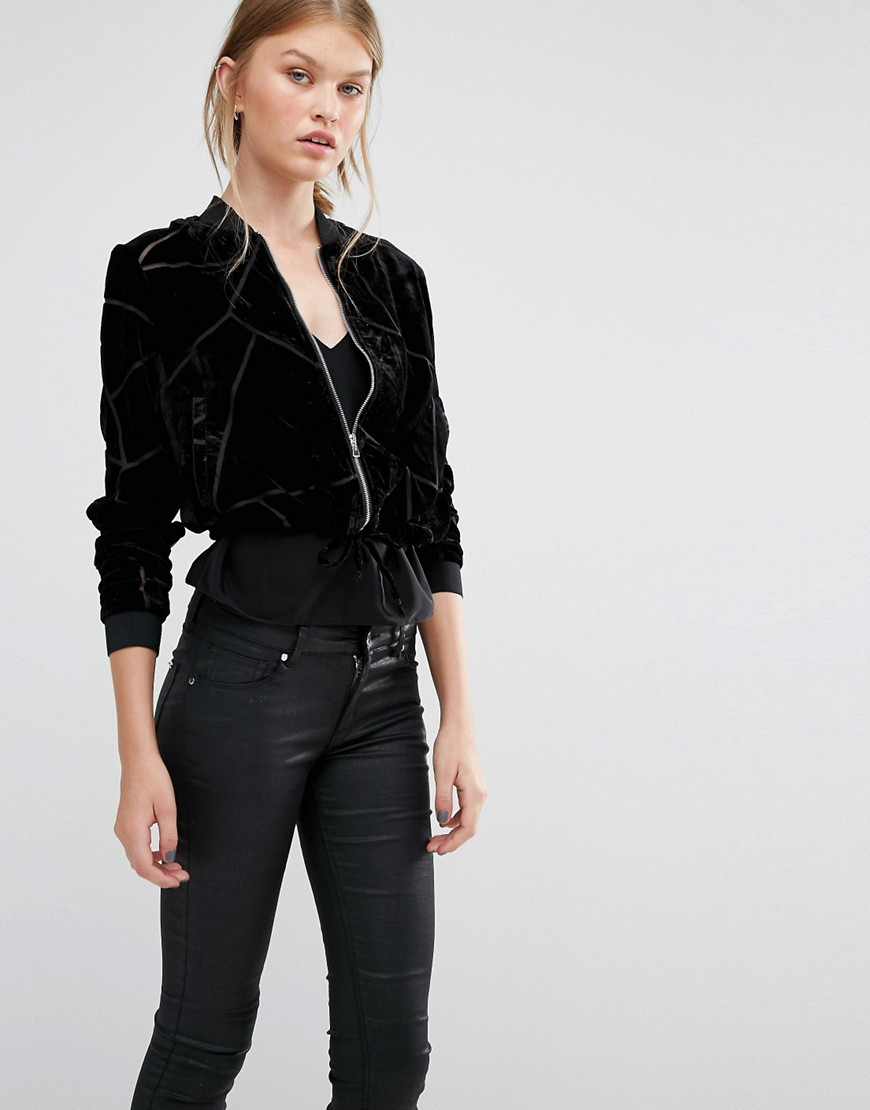 Vero Moda Velvet Burnout Bomber Jacket - 8 Perfect Velvet Pieces for Fall