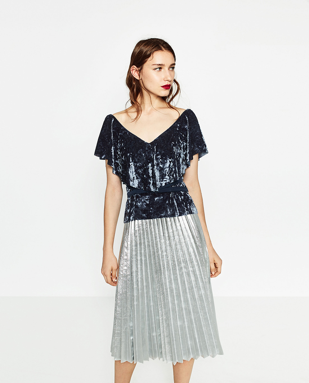 Zara Frilled Velvet Top - 8 Perfect Velvet Pieces for Fall