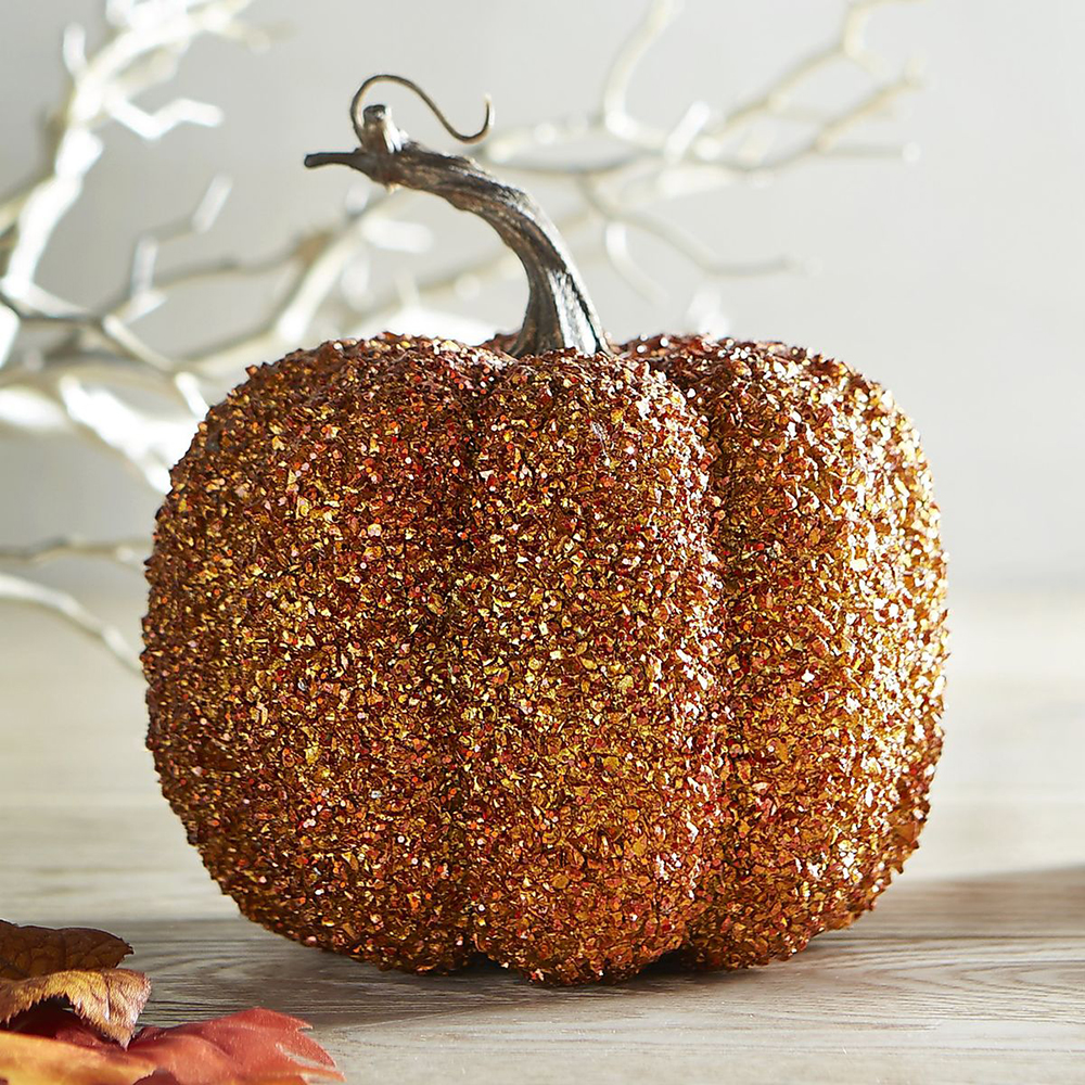 Shimmer Orange Pumpkin from Pier1 - Spooktacular Halloween Home Decor