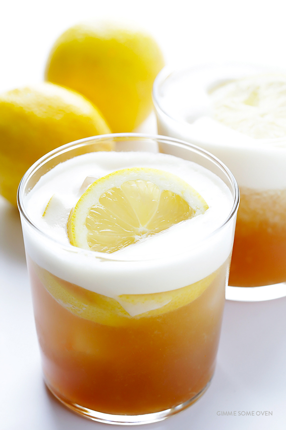 Maple Whiskey Sour | Gimme Some Oven - 8 Refreshing Fall Cocktails