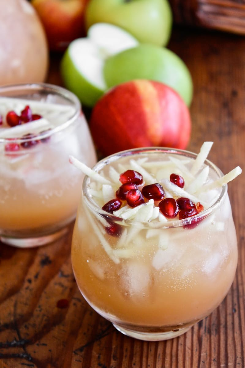 Pitcher Cocktail Recipe- Sparkling Apple Cider Sangria | The Kitchn - 8 Refreshing Fall Cocktails