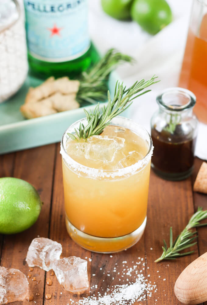Rosemary Ginger Margaritas | Wicked Spatula - 8 Refreshing Fall Cocktails