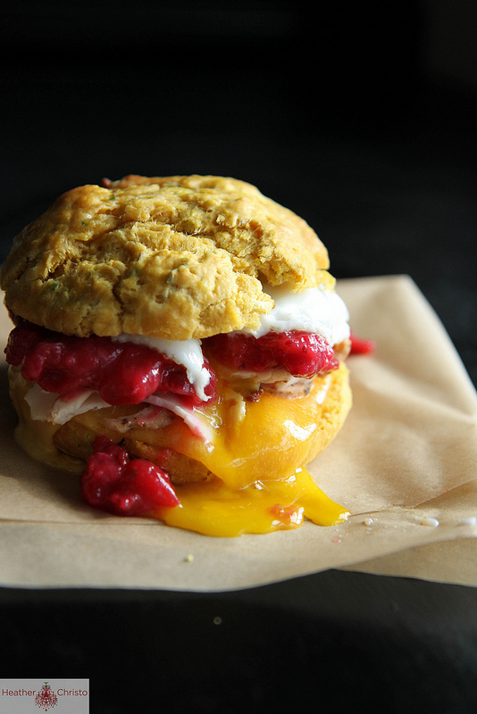 Sweet Potato Biscuit Breakfast Sandwich | Heather Christo - Pinterest Picks - 10 Yummy Thanksgiving Leftover Recipes