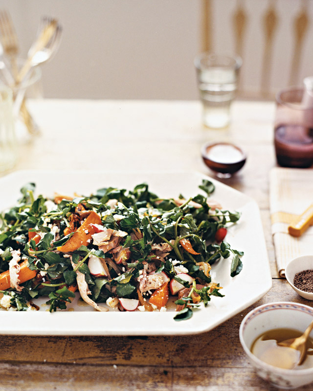 Turkey, Sweet Potato, and Watercress Salad | Martha Stewart - Pinterest Picks - 10 Yummy Thanksgiving Leftover Recipes