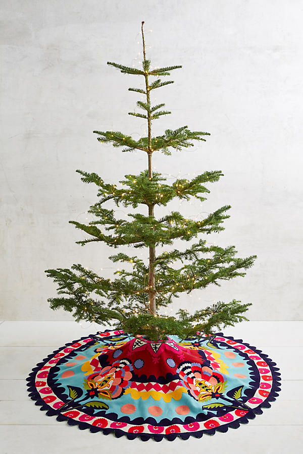 Anthropologie Verdure Tree Skirt - Deck Your Halls Christmas Ornaments and Home Decor