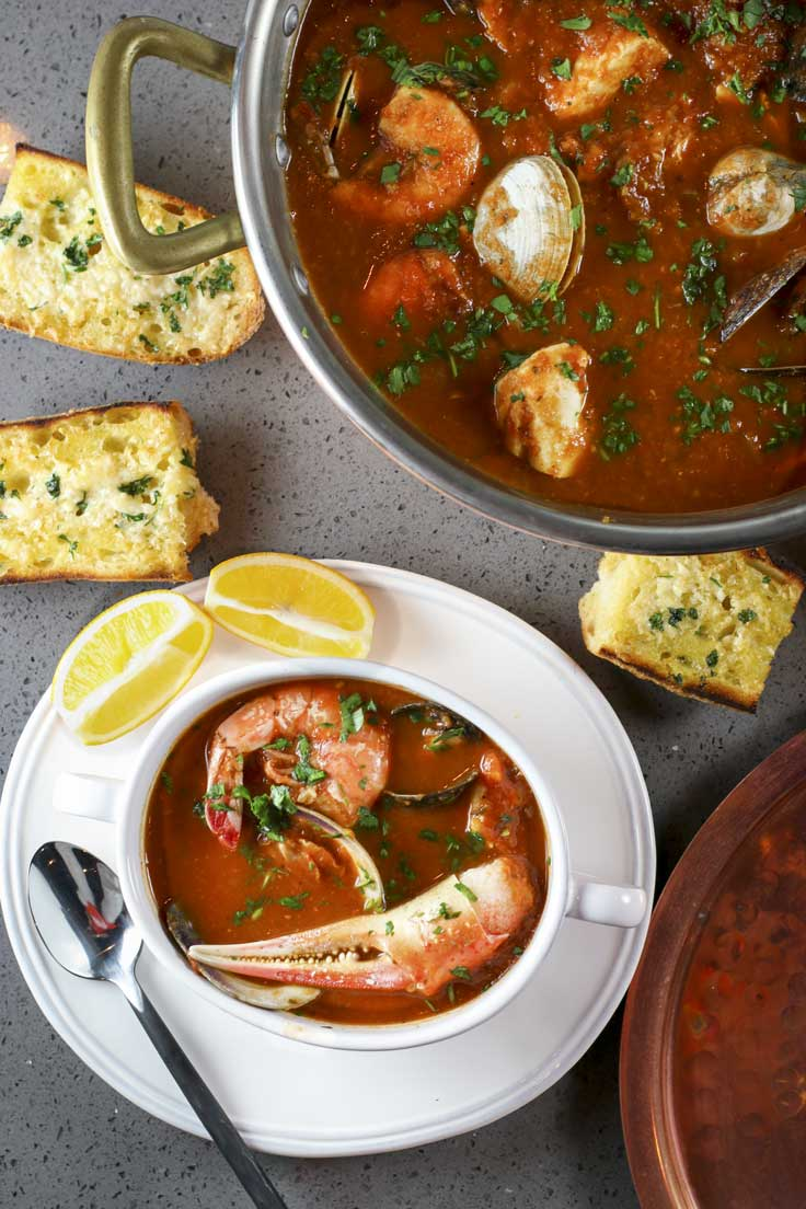 Cioppino Or Fisherman's Stew | Something New For Dinner - Pinterest Picks - 8 Indulgent Seafood Recipes for Christmas Eve
