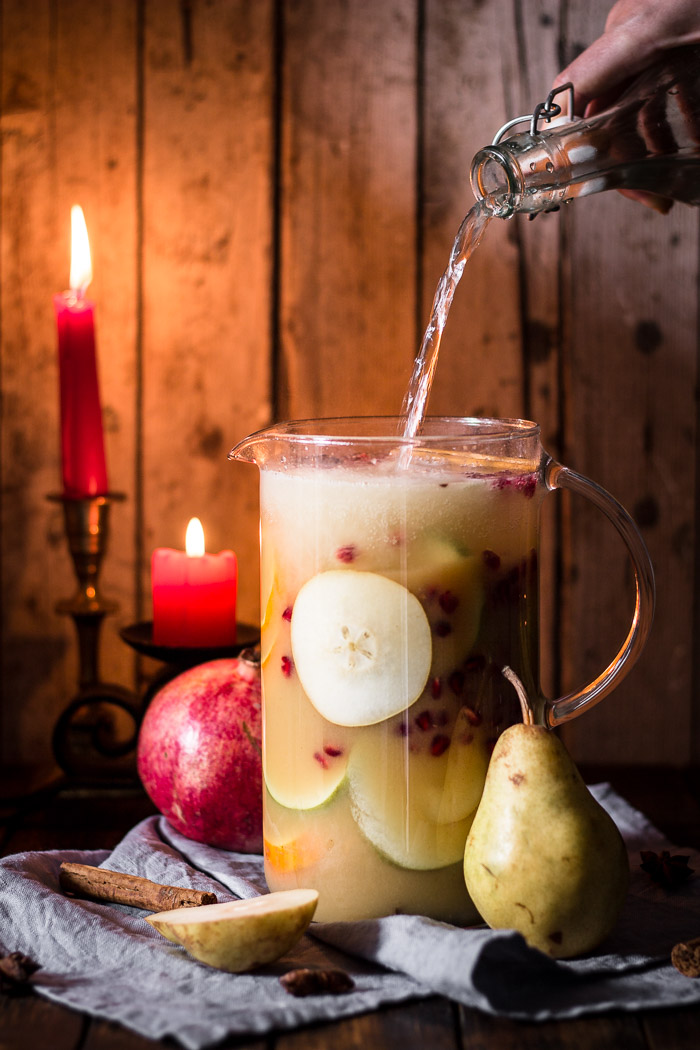Sober Festive Sangria | Use Your Noodles - Pinterest Picks - 8 Tasty Holiday Mocktails
