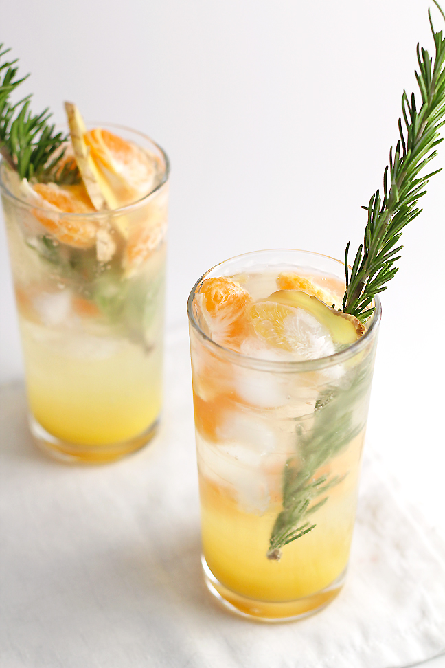 Virgin Ginger Mimosas | In Sonnet's Kitchen - Pinterest Picks - 8 Tasty Holiday Mocktails