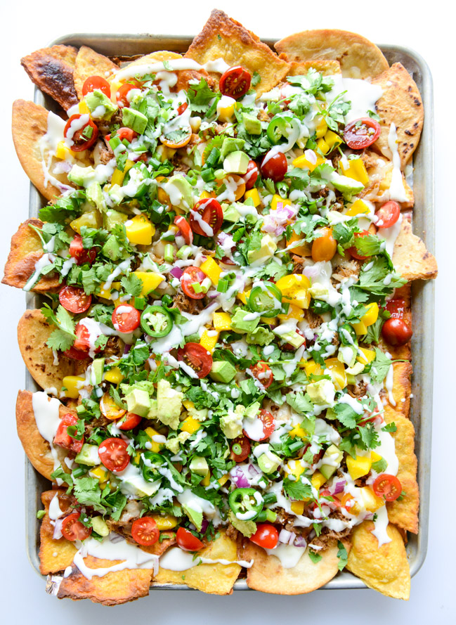 Crispy Carnitas Oven Nachos with Homemade Tortilla Chips | How Sweet It Is - 10 Super Bowl Recipes to Stave Off Monday's Hangover