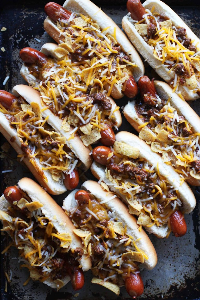 Frito Pie Hot Dogs | Honestly Yum - 10 Super Bowl Recipes to Stave Off Monday's Hangover