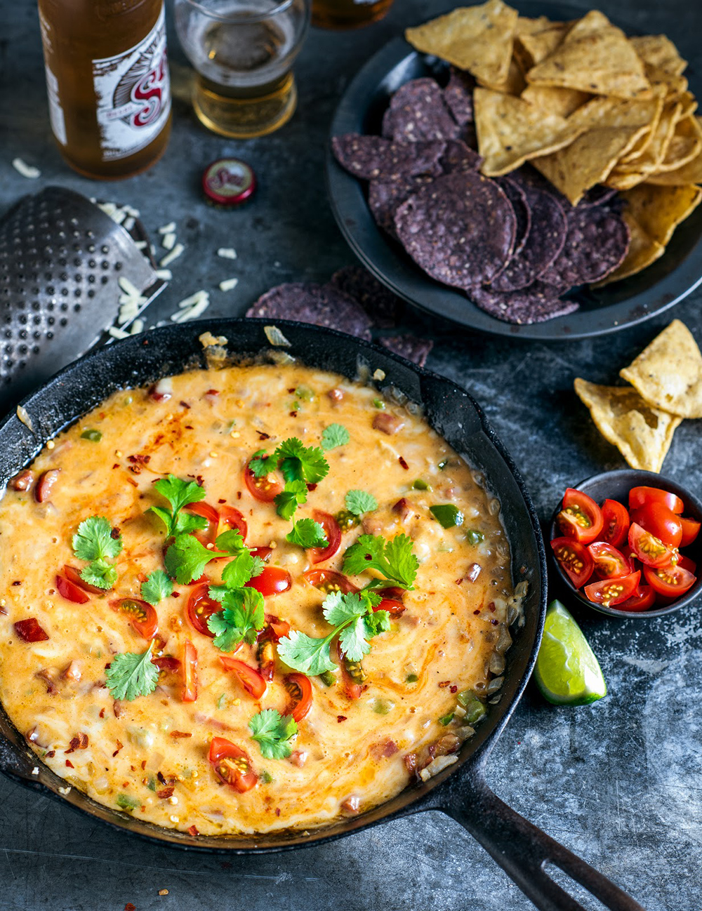 Queso Fundido, Beer, Chorizo, Chilli & Cheese Dip | From The Kitchen - 10 Super Bowl Recipes to Stave Off Monday's Hangover