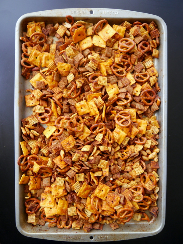 Spicy Sriracha Chex Mix | My Bacon Wrapped Life - 10 Super Bowl Recipes to Stave Off Monday's Hangover