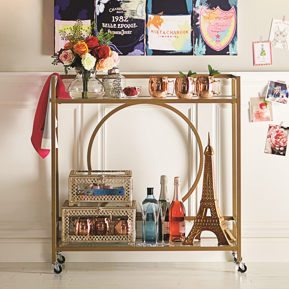 Wayfair Alsager Serving Cart by House of Hampton - 10 Perfect Bar Carts for Entertaining