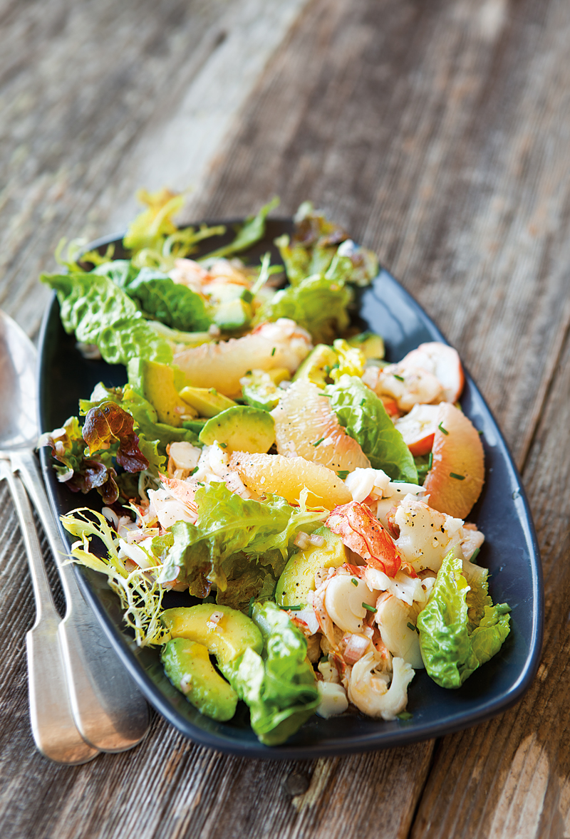 Lobster Salad with Grapefruit & Avocado | Williams Sonoma - Pinterest Picks - 10 Mouthwatering Winter Salads