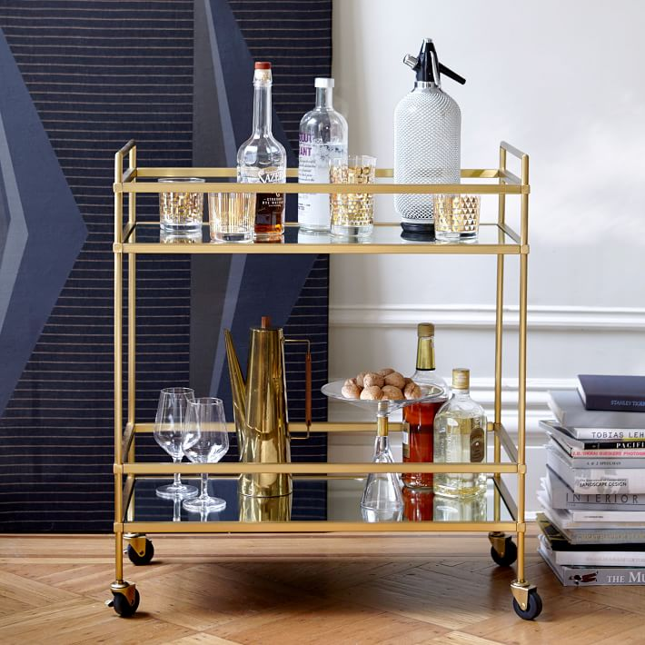 West Elm Terrace Bar Cart - 10 Perfect Bar Carts for Entertaining