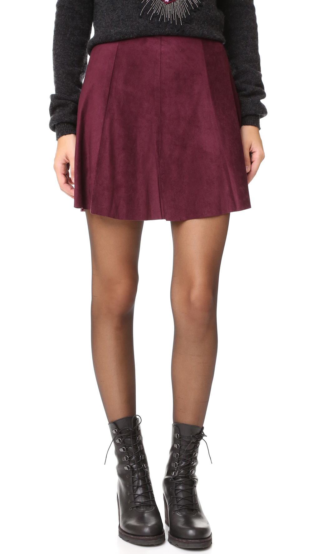 BB Dakota Kimber Faux Suede Skirt - The Perfect A-line Mini Skirt