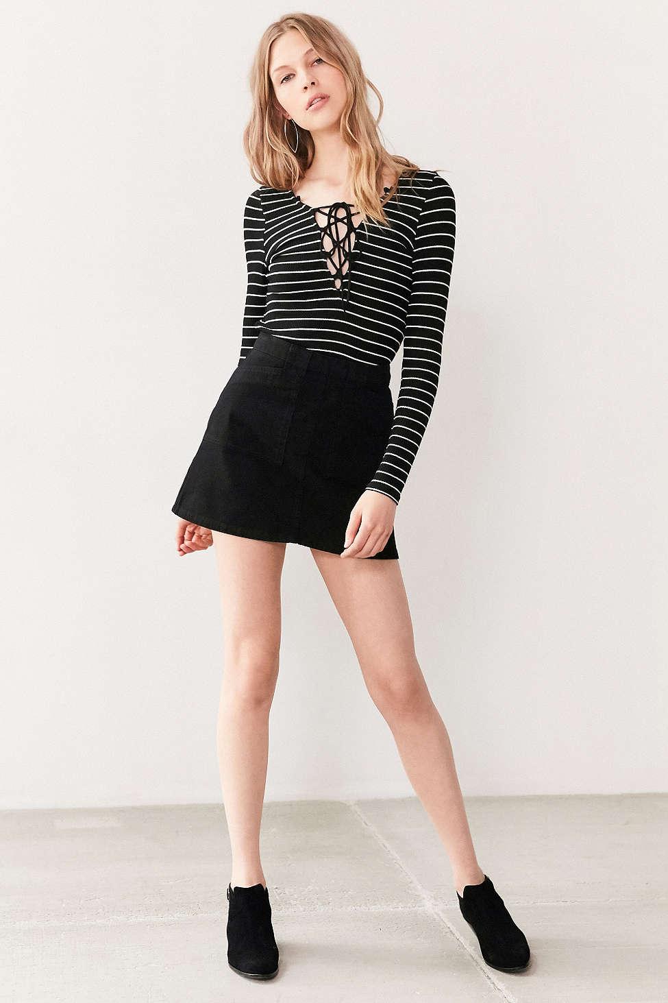 BDG Twill Utility Mini Skirt - The Perfect A-line Mini Skirt
