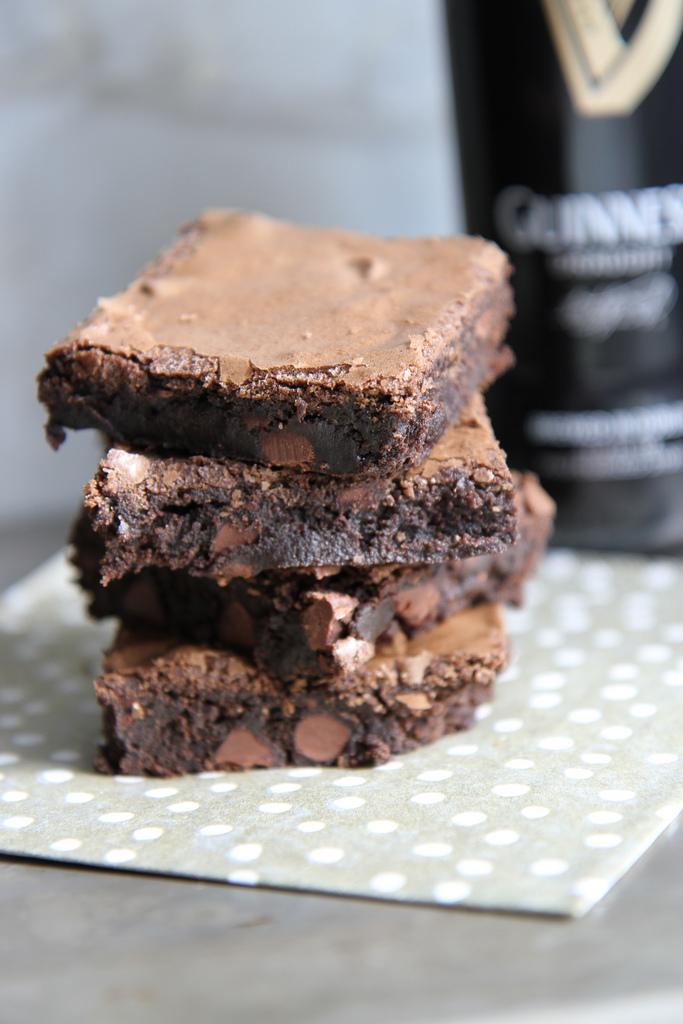Guinness Brownies | Heather Christo - Pinterest Picks - 8 Sweet Guinness Recipes for St. Patricks Day