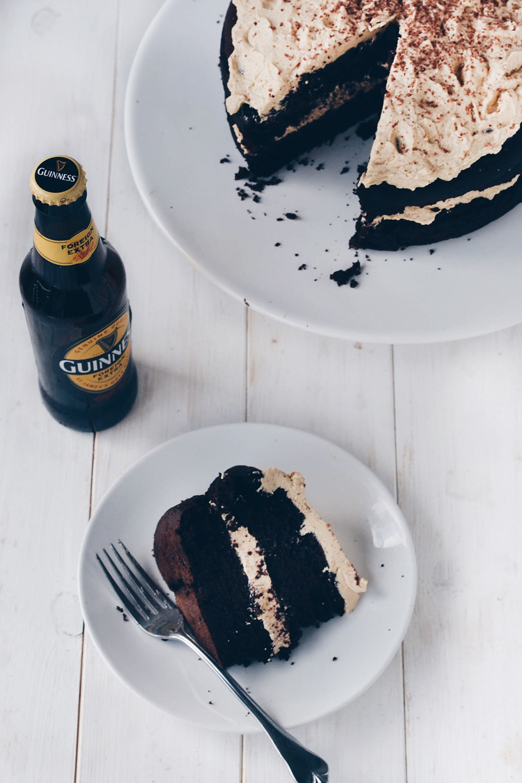 Guinness Chocolate Cake with Irish Cream Frosting | Wallflower Kitchen - Pinterest Picks - 8 Sweet Guinness Recipes for St. Patricks Day