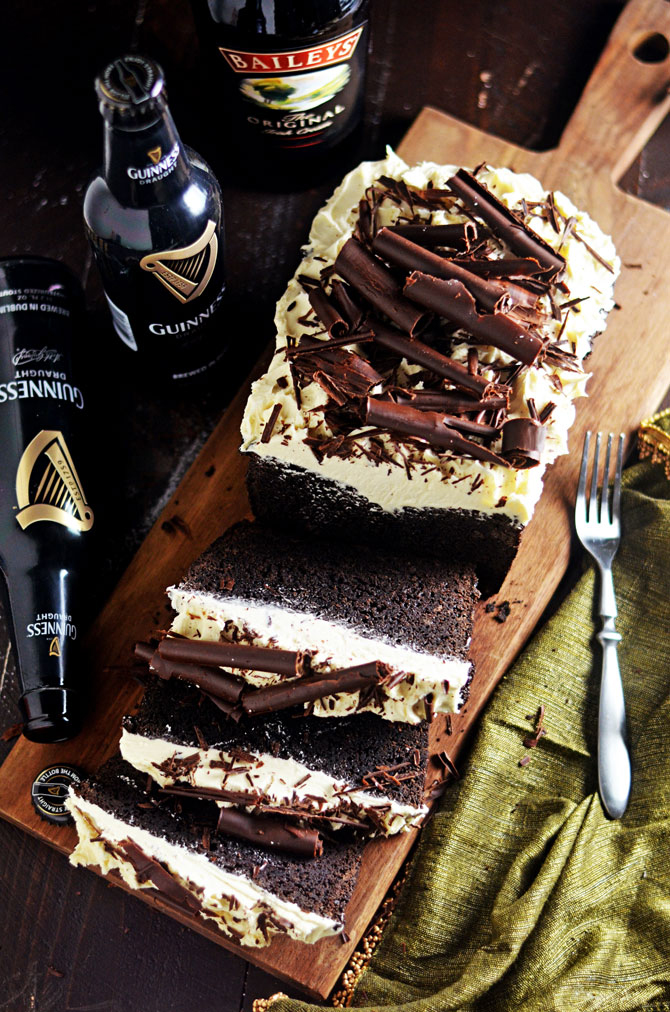 Malted Guinness Chocolate Cake with Baileys Frosting | Host The Toast - Pinterest Picks - 8 Sweet Guinness Recipes for St. Patricks Day