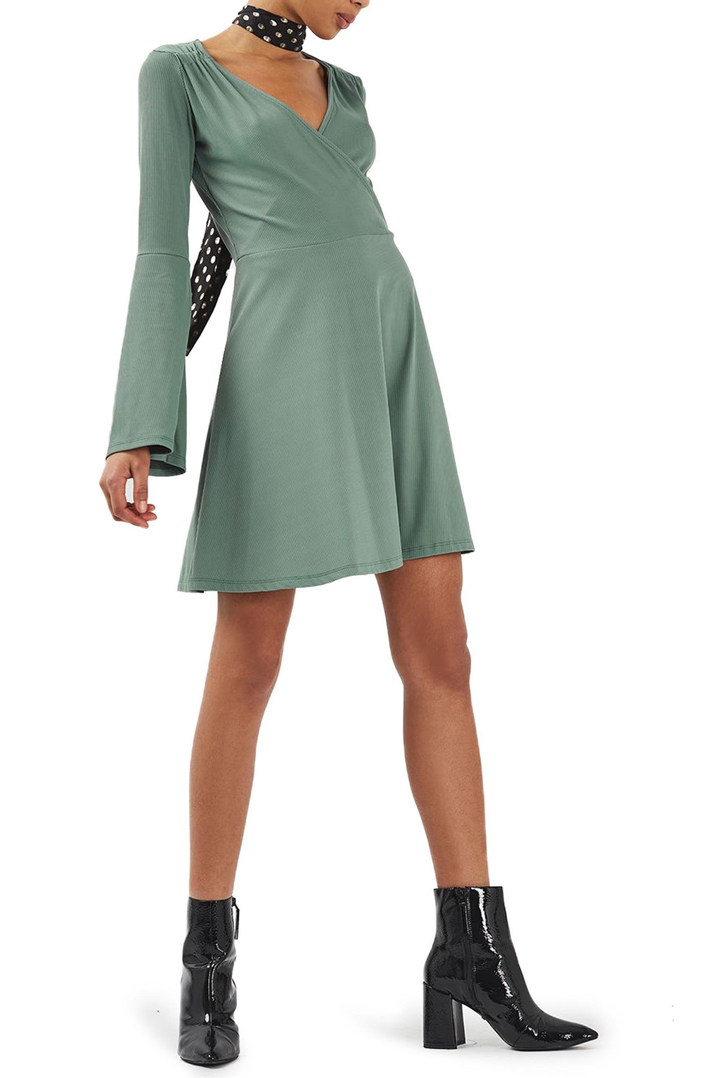 Topshop Trumpet Sleeve Skater Dress - Wardrobe Refresh: Topshop for Spring