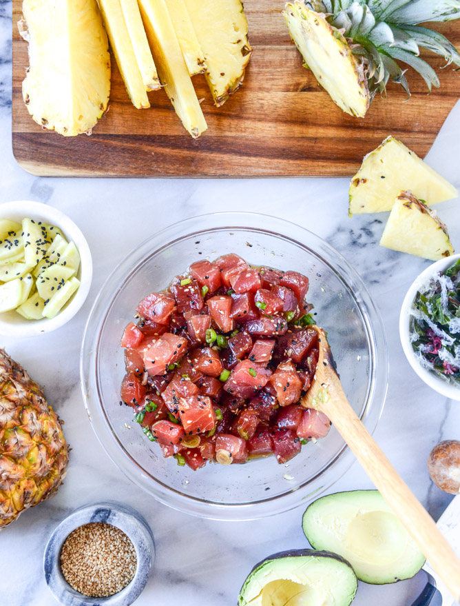Ahi Poke Bowls with Pineapple and Avocado | How Sweet It Is - Poke Recipes