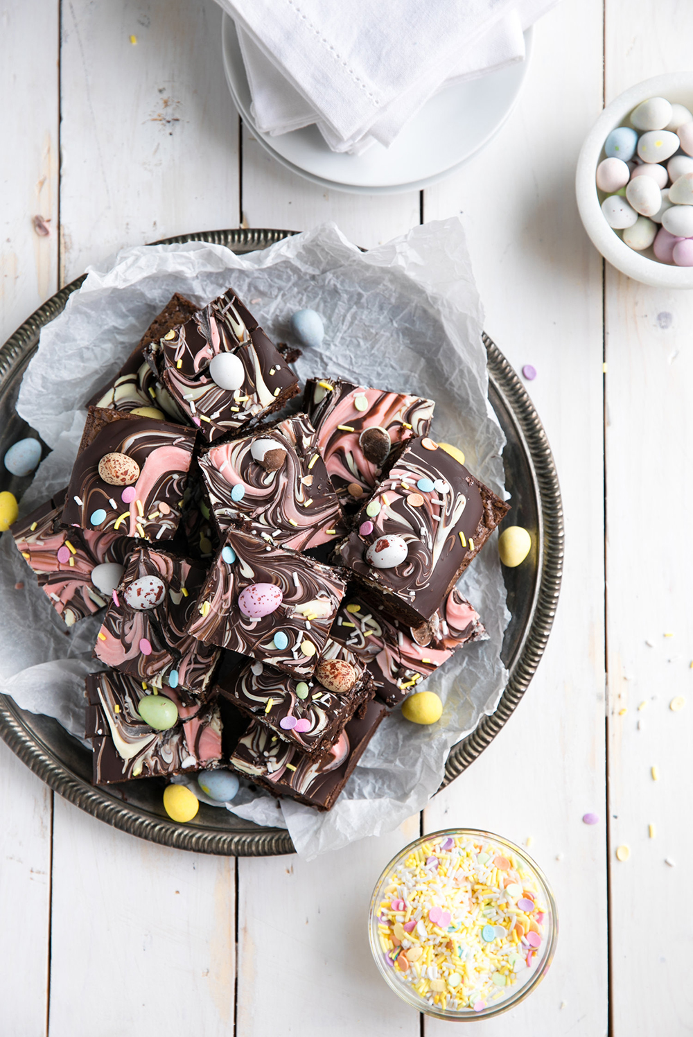 Chocolate Bark Easter Brownies | Coffee & Crayons - Pinterest Picks - 10 Delightful Easter Desserts