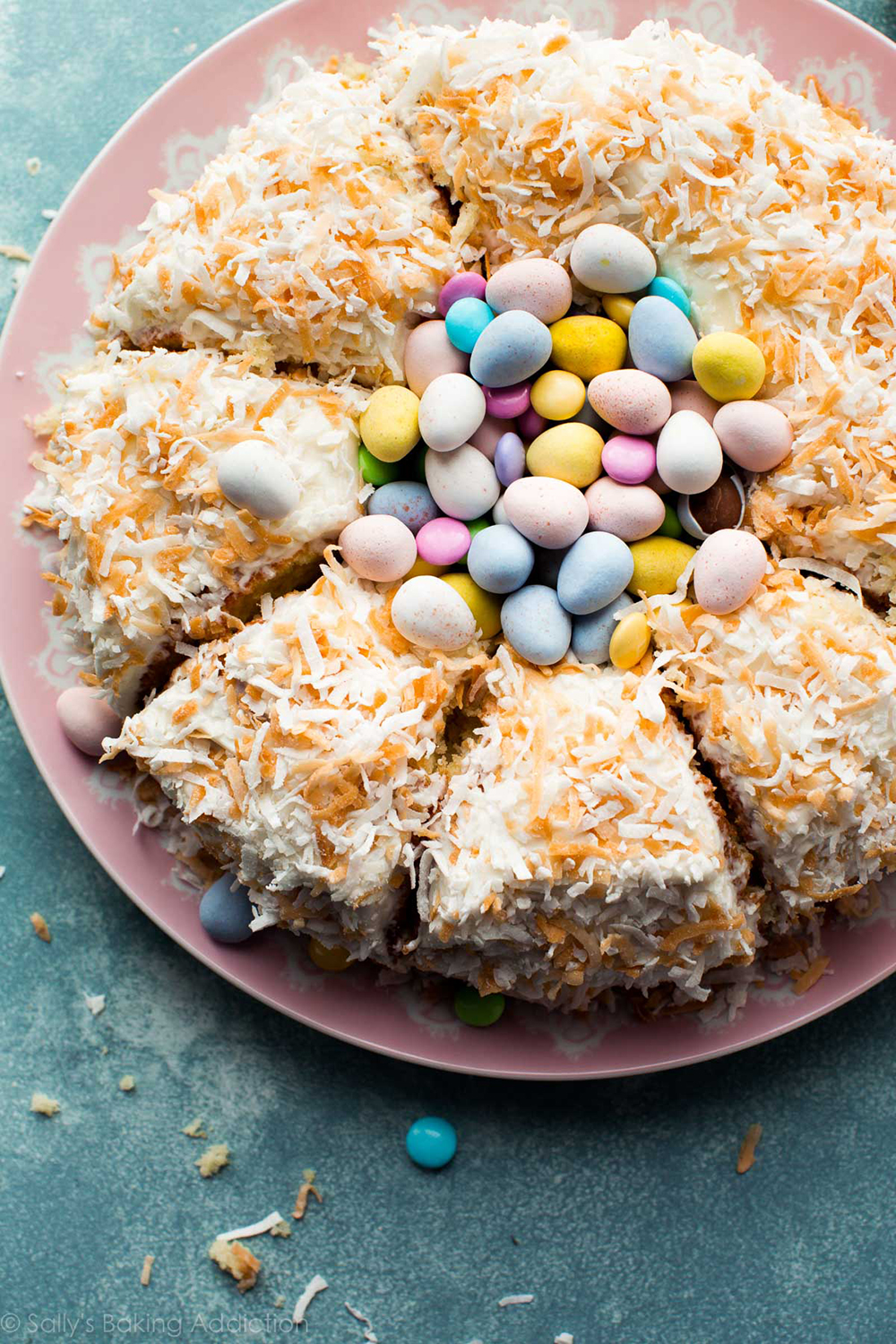 Coconut Easter Nest Cake | Sally's Baking Addiction - Pinterest Picks - 10 Delightful Easter Desserts