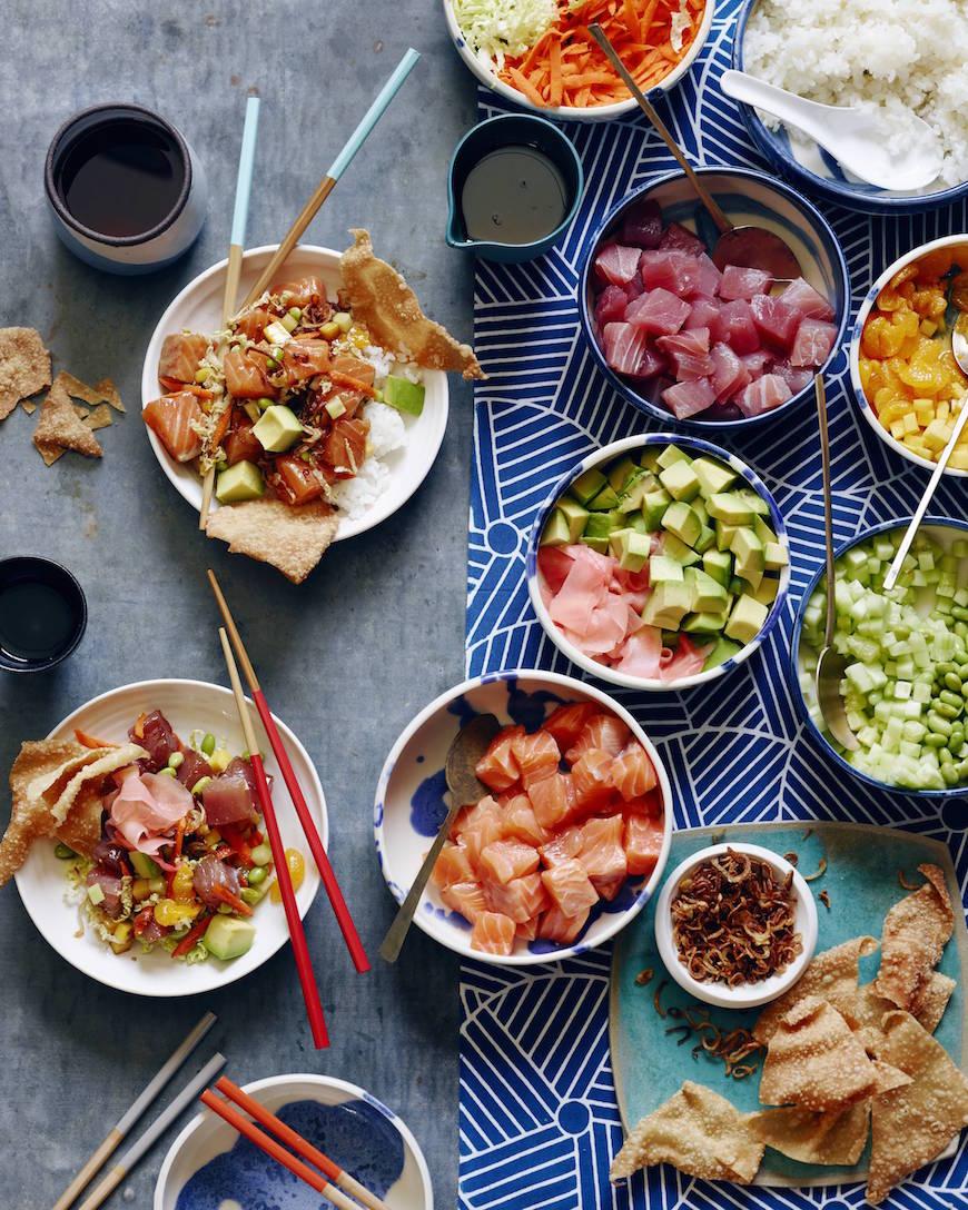 DIY Poke Bowls   What's Gaby Cooking - Poke Recipes
