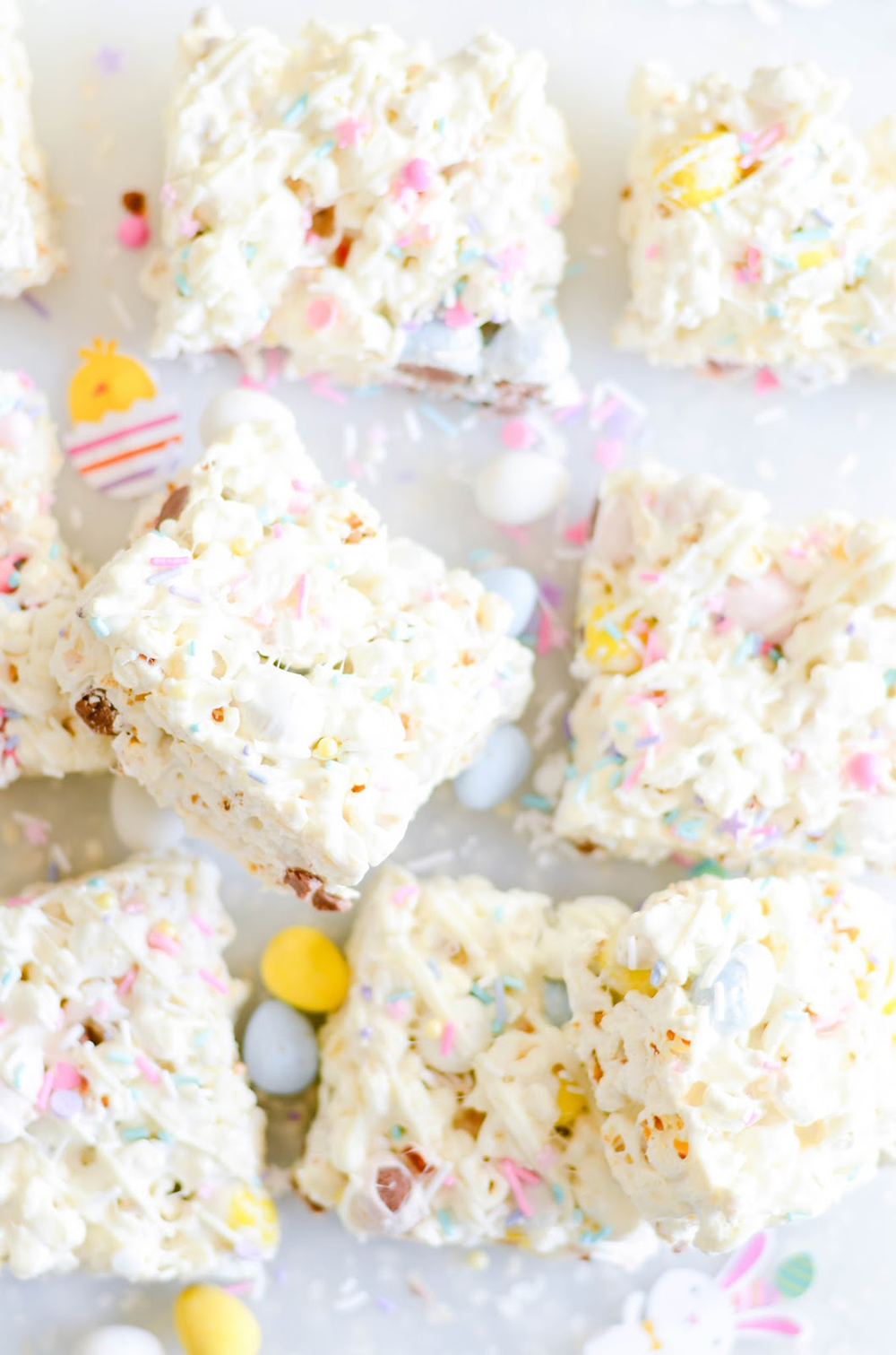Easter Egg Popcorn Bars | Keat's Eats - Pinterest Picks - 10 Delightful Easter Desserts