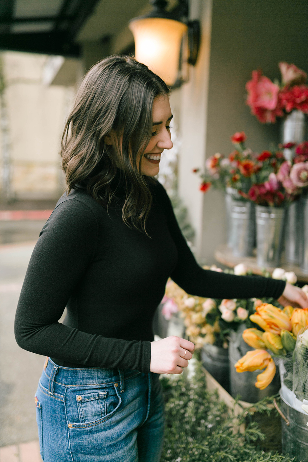 Madewell instrumental turtleneck bodysuit Lauren Wilks Photography - Black Turtleneck Outfit