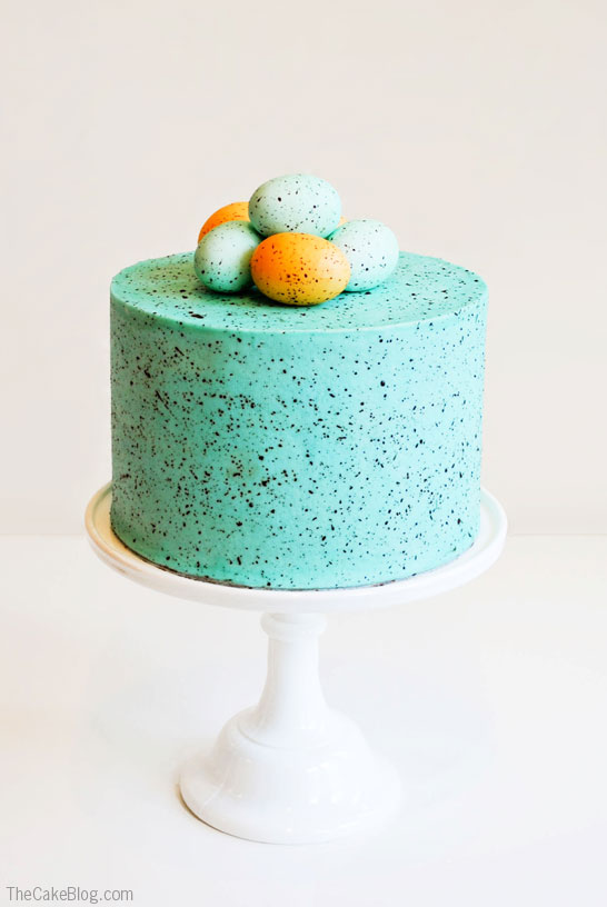 Speckled Egg Cake | The Cake Blog - Pinterest Picks - 10 Delightful Easter Desserts