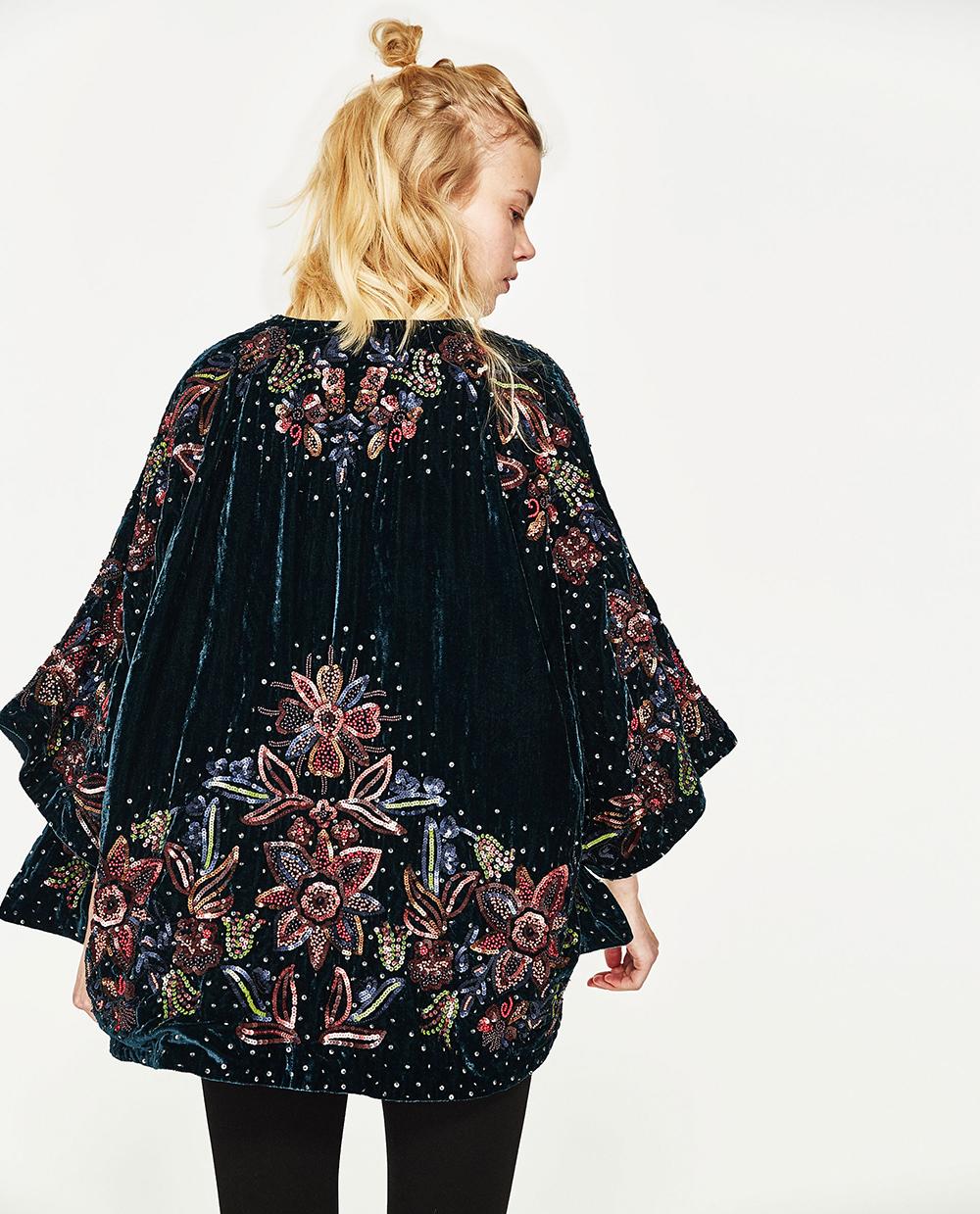 Zara Sequined Kimono