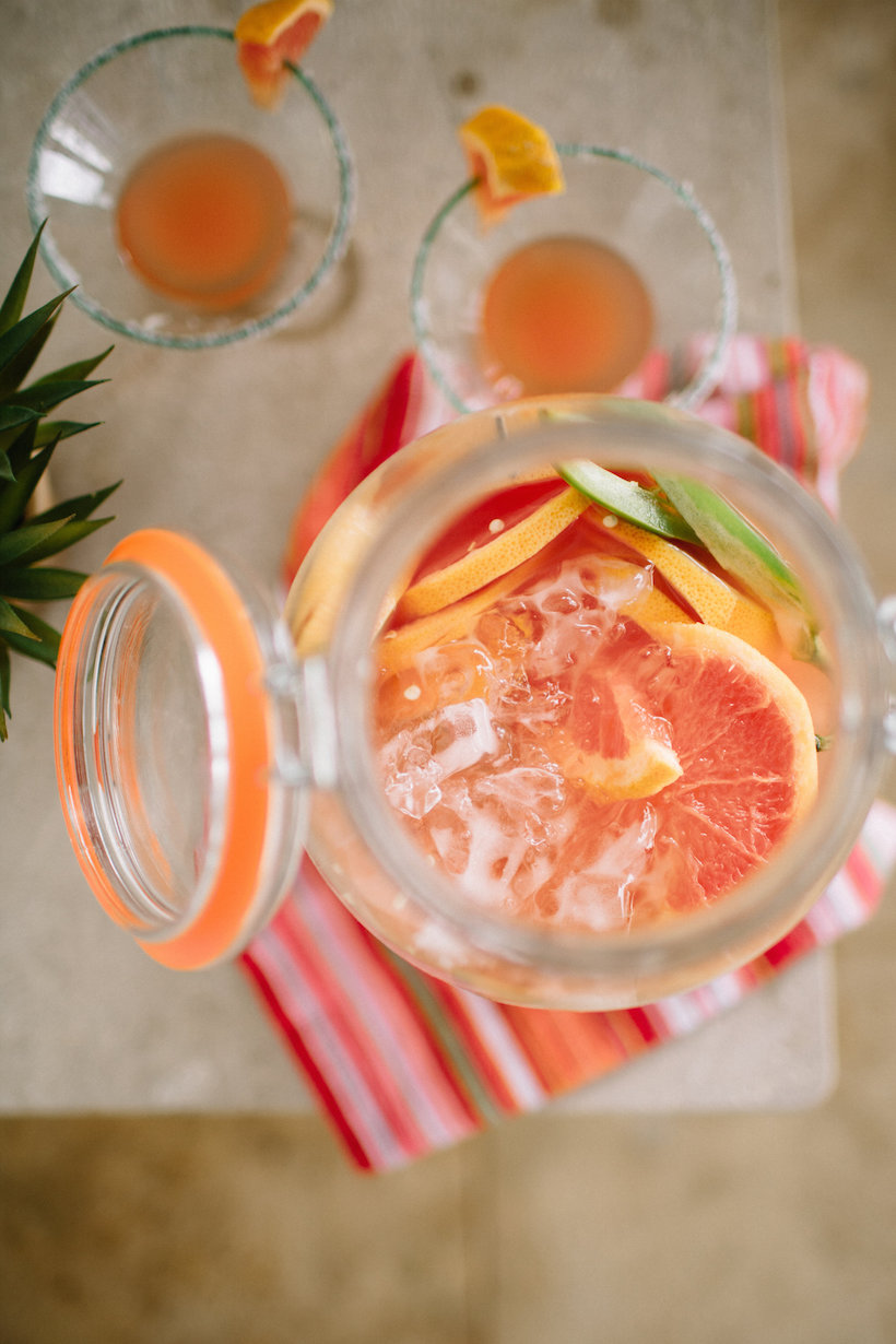Grapefruit-Jalapeño Margarita | Camille Styles - Pinterest Picks - Cinco de Mayo Ready Margarita Recipes