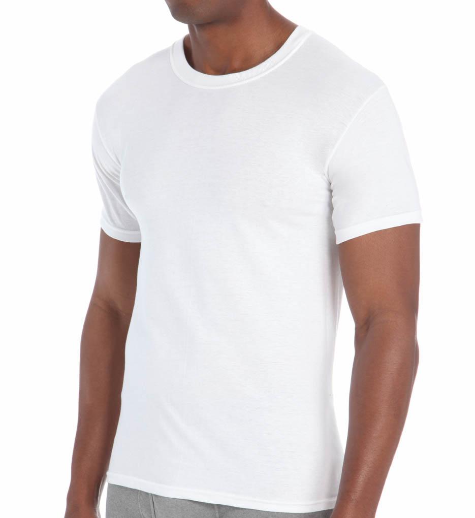 hanes men's white t shirts