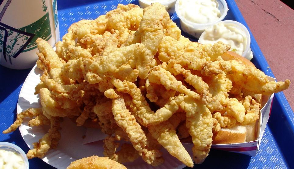 Clam Strips Clam Box Roadfood | Christmas Eve Food