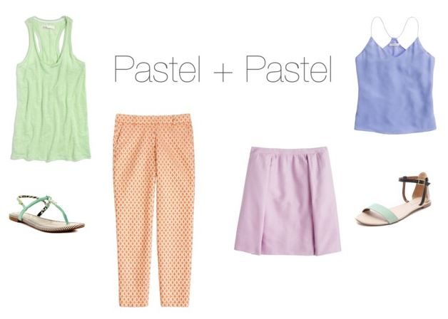 How to Wear Pastels - Pastel + Pastel   How She'd Wear It with Style and Cheek