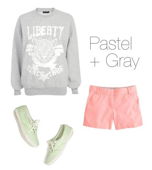 How to Wear Pastels - Pastel + Gray   How She'd Wear It with Style and Cheek