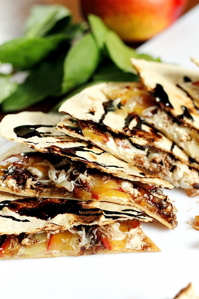 Caramelized Nectarine and Feta Quesadilla with a Balsamic Glaze | Fabtastic Eats | Cinco de Mayo