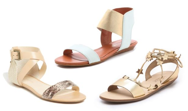 Gold and light colored sandals | Spring Sandals