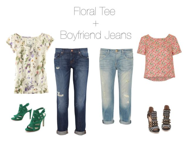 How She'd Wear It - florals and boyfriend jeans | How to Wear Floral Prints