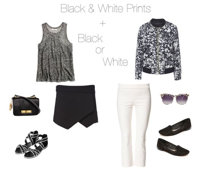 How She'd Wear It - black and white prints + black or white