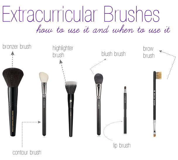 Extracurricular Brushes   The Makeup Lady
