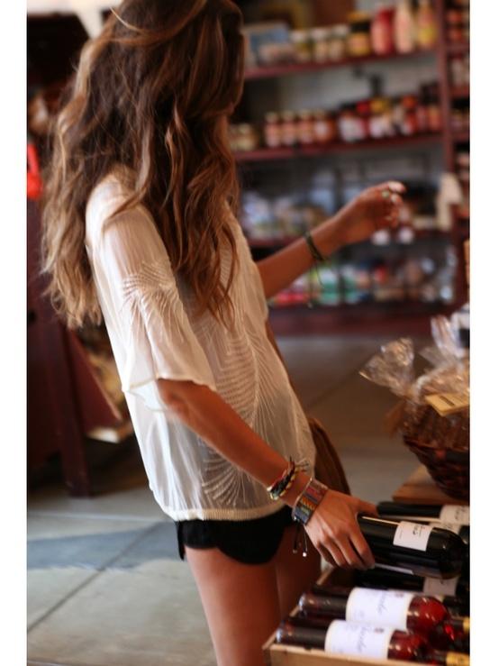 Beachy hair lace top