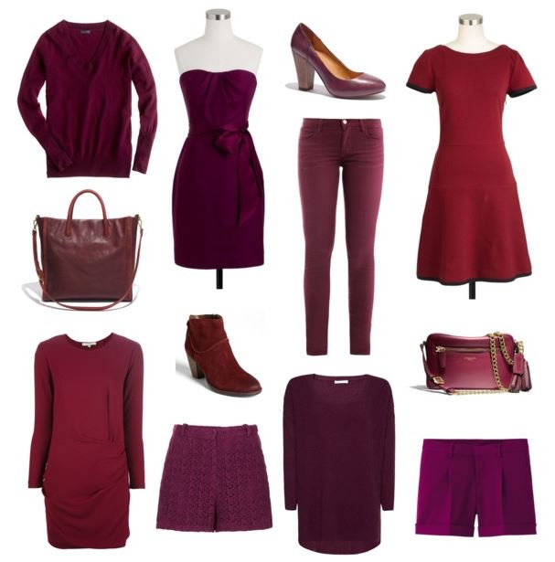 How She'd Wear It with Style and Cheek - Berry Hues