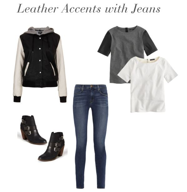 How She'd Wear It - Leather Accents with Jeans