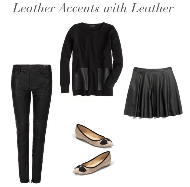 How She'd Wear It - Leather Accents with Leather