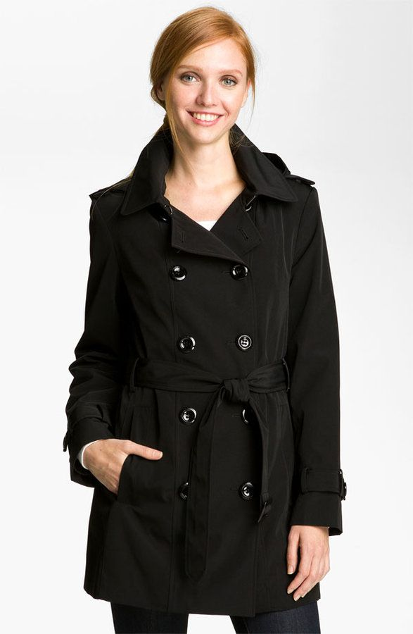 Calvin Klein Double Breasted Trench Coat (Nordstrom Exclusive)