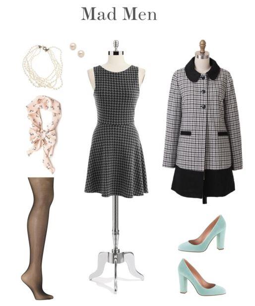 How She'd Wear It with Style and Cheek - Houndstooth & Mad Men   How She'd Wear It with Style and Cheek - Classic Patterns for Halloween