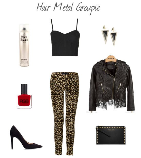 How She'd Wear It with Style and Cheek - Leopard Hair Metal Groupie   How She'd Wear It with Style and Cheek - Classic Patterns for Halloween